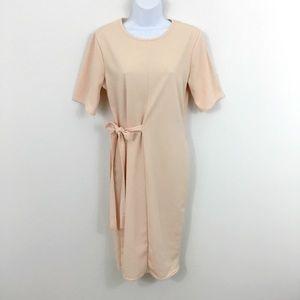 BOOHOO SIDE-TIE SHORT SLEEVE DRESS